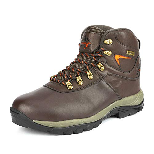 NORTIV 8 Men's 170412 Brown Waterproof Hiking Boots Lightweight Shoes Backpacking Trekking Trails Size 10.5 M US
