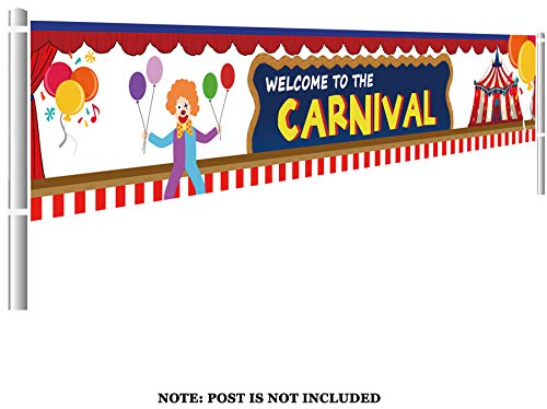 Colormoon Carnival Banner, Large Carnival Party Supplies, Carnival Birthday Party Decorations (9.8 x 1.5 feet) ()