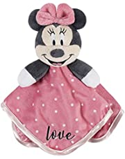 """Disney Baby Minnie Mouse Security Blanket, Pink, 12"""" x 12"""""""