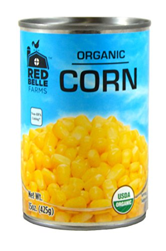 Red Belle Farms Organic Whole Kernel Corn, 15 oz (425 g) (Pack of 12) by Red Belle Farms