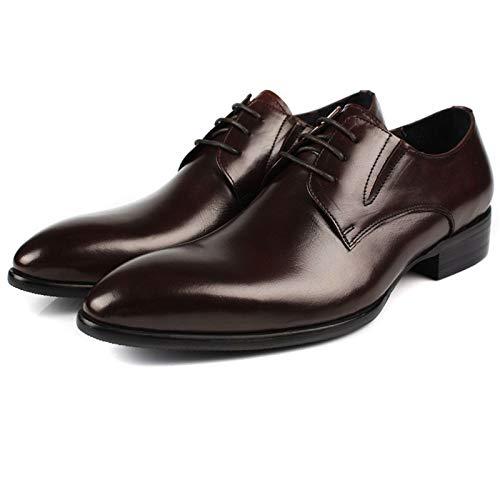 Casual Encajes Puntiagudos Negocios Moda Brown De Hombres Formal Zapatos Caballeros Cuero Ropa Jóvenes LYZGF OKqI8gB