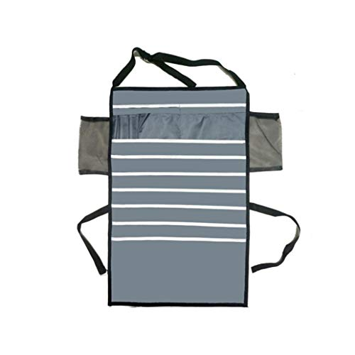 KISSFRIDAY Gray Multifunctional Adjustable Desk-Side Hanging Bag Oxford Fabric Organizer