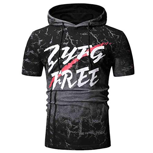 (Men's Hoodie Shirts,MmNote Gym Premium Fitted Muscle Fitness Quick-Dry Moisture Wicking Performance Short Sleeve Gray)
