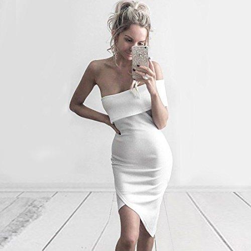 HLBCBG Kleid Rot Damen rot Weiß 36 8SOTv8qwr