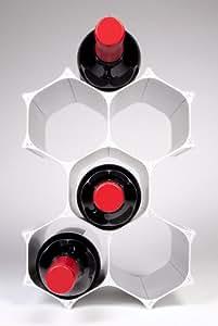 WineHive® Modular Wine Rack 6 Bottle Silver