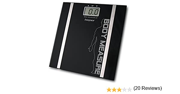 Beper 40.808A/BK Body Trainer Báscula de baño con medido de Grasa Corporal, Negro: Amazon.es: Salud y cuidado personal