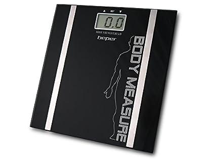 Beper 40.808A/BK Body Trainer Báscula de baño con medido de Grasa Corporal,