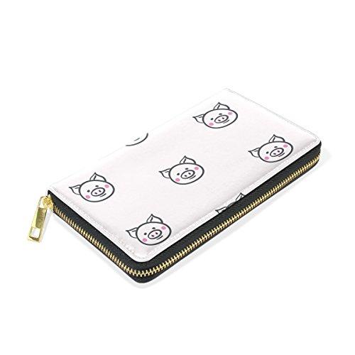 Handbags And Pattern 3 Clutch Around Zip TIZORAX Organizer Wallet Pig Purses Womens wTx4HCq