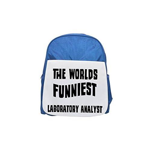 El analista de laboratorio más divertidos del mundo impreso Kid 's azul mochila, para mochilas, cute small Mochilas, cute negro mochila, Cool mochila negra, moda mochilas, Gran moda mochilas, negro F