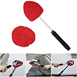 Seven Sparta Window Cleaning Tool, Windshield Cleaner with Extendable Handle and Adjustable Triangular Shape Car Windshield Clean Tool for Car Window Windshield