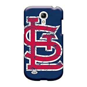 Shock Absorption Cell-phone Hard Cover For Samsung Galaxy S4 Mini With Allow Personal Design High Resolution St. Louis Cardinals Pattern CharlesPoirier