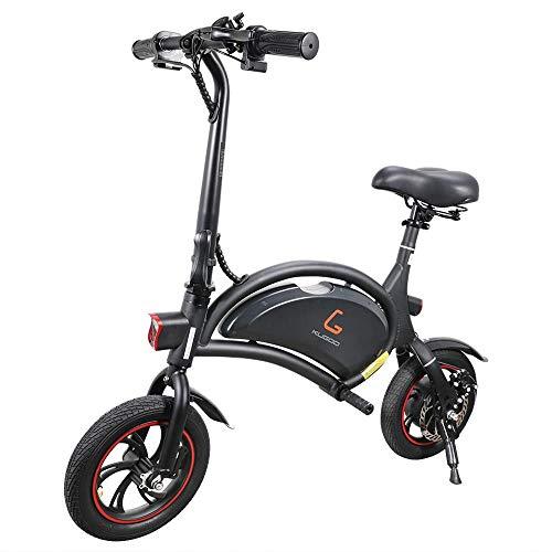 GoZheec Bicicleta eléctrica Plegable para Adultos, KUGOO B1 Bicicleta eléctrica 250W, 12 Pulgadas neumáticos de Goma inflables, autonomía 23 km, Velocidad máxima 25 km/h, Control App.