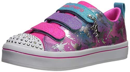 Skechers Kids Girls' TWI-Lites-Fairy Wishes Sneaker, Multi, 12.5 Medium US Little Kid (Skechers Girl Shoes Light Up)