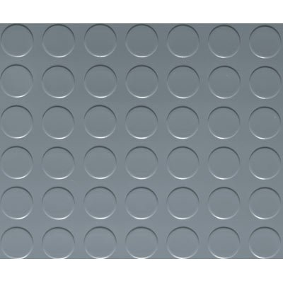 G-Floor Garage/Shop Floor Coverings - 7 1/2ft. x 17ft., Coin Design, Slate Gray, Model# FG75CN717SG