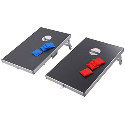 TANGKULA Bean Bag Toss Portable Foldable Professional Cornhole Game Set with 8 Bean Bags, 2 Play Boards & 1 Waterproof Folding Carry Case by TANGKULA