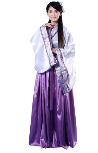 Bysun women's costume Han Chinese clothing PurpleFS (Han Chinese Clothing compare prices)