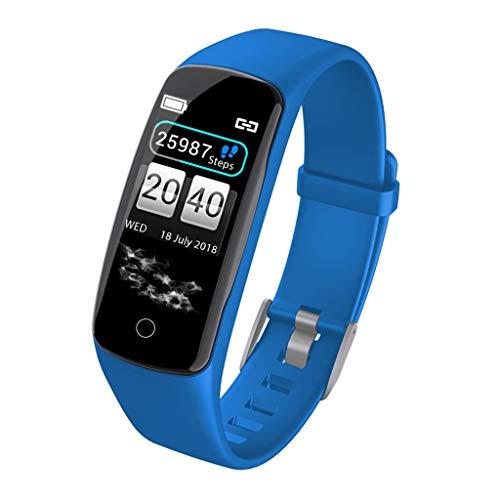 CZYCO Smart Watch Blood Pressure Heart Rate Monitor Sleep Sports Fitness Tracker A good Helper to Improve Your Sleep(Blue)