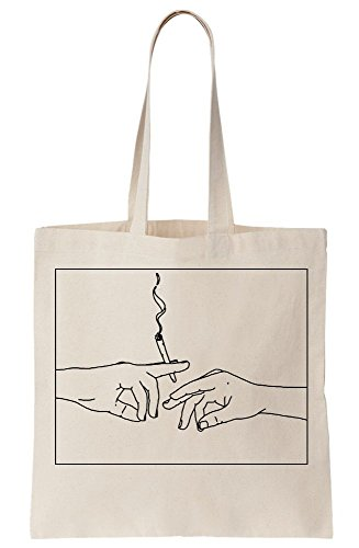 Artwork Canvas Bag Sharing Smoke Tote 4PxwYHa