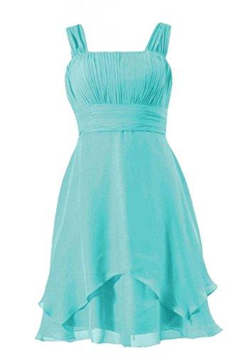 Knee Bridesmaid BM912 W 45 DaisyFormals Flowing aqua Layers Dress Dress Cocktail Blue Length EAIZxgq