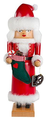 KWO Nutcracker Mrs. Santa, 29 cm (German Kwo Nutcracker)