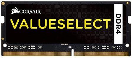 DDR4 2133 MHz CL15 Mainstream SODIMM Notebook Memory Module Black 1 x 8 GB Corsair CMSO8GX4M1A2133C15 Value Select 8 GB