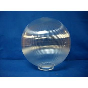 12 Quot Acrylic Round Prismatic Globe Light Fixture Post