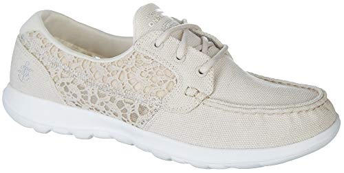 Women's Go Walk Lite-15431 Boat Shoe,natural,8 M US ()