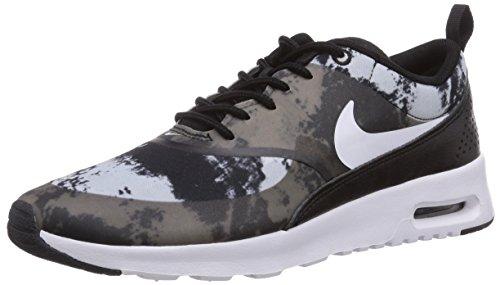 Nike Air Max Thea Print Damen Sneakers Schwarz (Black/White-Dark Grey)