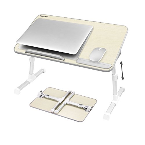 NEARPOW Laptop Bed Tray Table, Adjustable Laptop Bed Stand, Portable Standing Table with Foldable Legs, Foldable Lap Tablet Table for Sofa Couch Floor