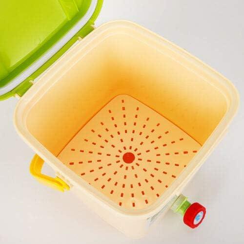 ensemble de poubelles biologiques innovantes ferment Bokashi Organico Kaibrite 9L Bio Poubelle pour d/échets de cuisine et compos