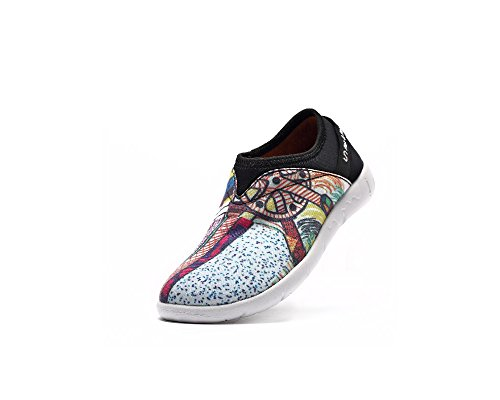 UIN Chaussure de slip-on colorée de canevas de roue petite des enfants (enfant petit)