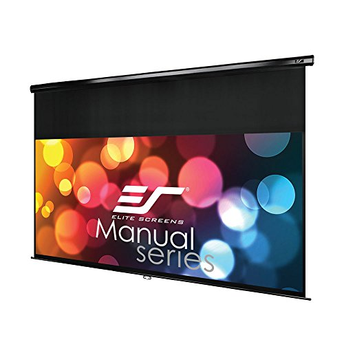 Elite Screens Manual Series, 95-INCH 2.35:1 Aspect Ratio, Pull Down with 18-INCH DROP Manual Projector / Projection Screen with AUTO LOCK, Movie Home Theater  8K / 4K Ultra 3D HD Ready, 2-YEAR WARRANTY, M95UWC-E18