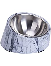 Super Design Mess Free 15° Slanted Bowl for Dogs and Cats, Tilted Angle Bulldog Bowl Pet Feeder, Non-Skid & Non-Spill, Easier to Reach Food