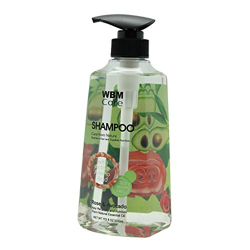 WBM Care 8602 Moisturizing Shampoo Rose & Avocado with Himalayan Pink Salt, 500 ml,