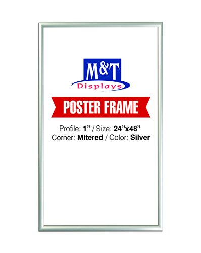 - M&T Displays Snap Frame 24X48, Poster Size, 1