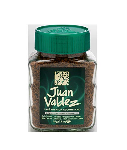 Juan Valdez Instant Decaffeinated Freeze Dried Coffee, 3.3oz Jar (Decaffeinated Chocolate Coffee)