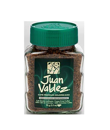 - Juan Valdez Instant Decaffeinated Freeze Dried Coffee, 3.3oz Jar