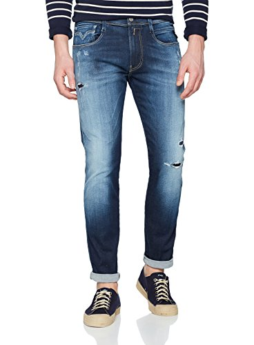 REPLAY Hombre Azul Blue Vaqueros Slim 7 Denim para Anbass ffrqv