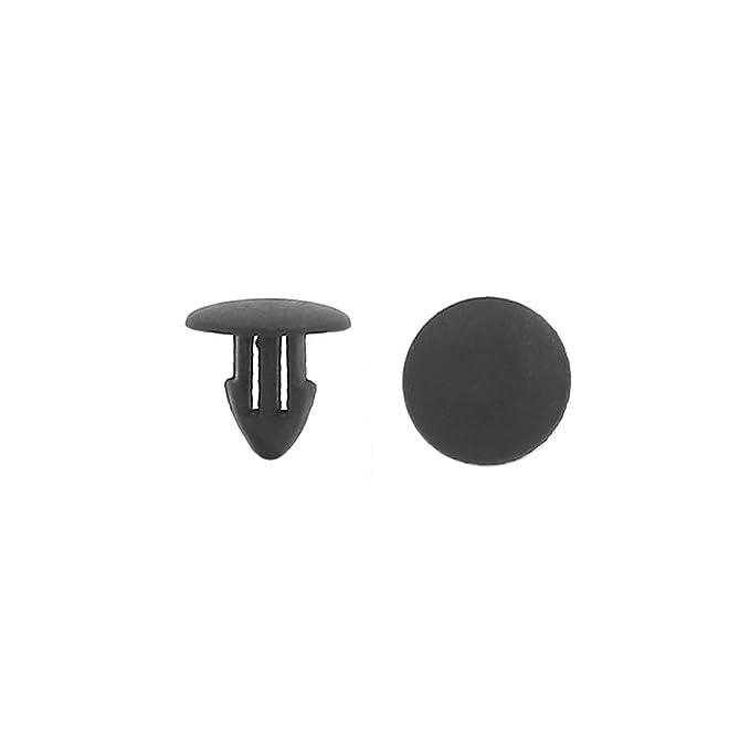 25 Pcs Noir En Plastique Rivet Corps de Garniture Garnitures de Retenue de Panneau Universel Application