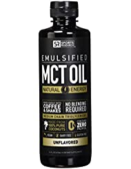 NEW!! Emulsified MCT OIL supporting energy and healthy metabolism | Mixes easily into any liquid - 100% Coconut sourced (Unflavored)