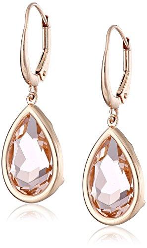 UPC 096303228340, Carnevale Sterling Silver Pink Swarovski Teardrop Earrings