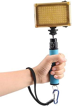 Yangjingya Camera Stand LED Newsflash Short Holder Sponge Steadicam Handheld Monopod with Gimbal for SLR Camera Color : Red Orange
