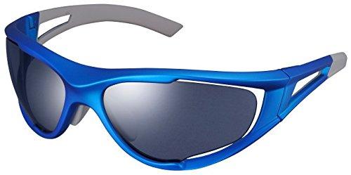 SHIMANO シマノ アイウェア CE-S50X フレームカラー:マットメタリックブルー レンズカラー:スモークシルバーミラー   B00HFKYNO2