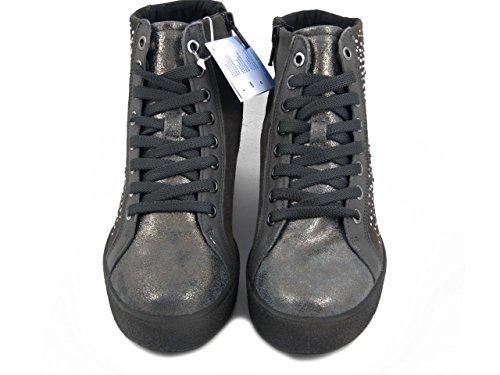 E Cerniera Strass Stringato Osvaldo Camoscio In 3 82971 Pericoli Zeppa Interna Cm Imac Sneakers Con Grigio Stivaletto Donna 7wAvzSFfqw