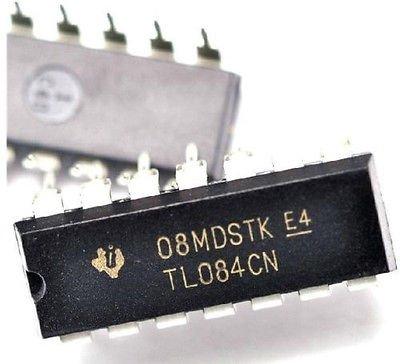 QX Electronics 20PCS TL084CN TL084 DIP-14 Quad JFET-Input Op Amp IC (Quad Op Amp)