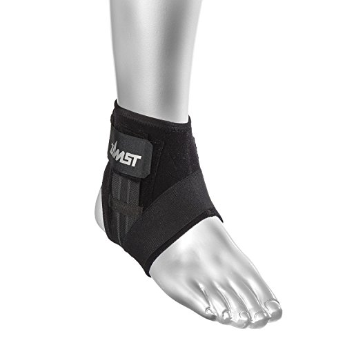 Zamst A1-S Right Ankle Brace, Black, Large