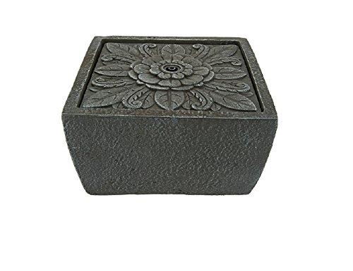 Tavolo Floral Square Tabletop Fountain by Ellen DeGeneres, Slate
