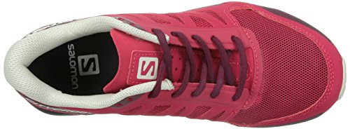Salomon - Botas de senderismo de tela para mujer rosa - lotus pink,bordeaux,light grey