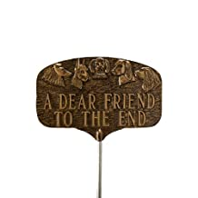 Montague Metal Products Pet Dog Grave Marker, Aged Bronze