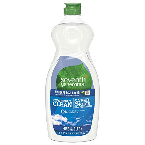 Natural Dish Liquid Soap - Seventh Generation Dish Liquid - 25 oz - Free & Clear - 2 pk